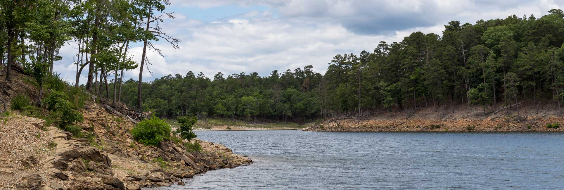A river winding through some trees near Broken Bow, OK